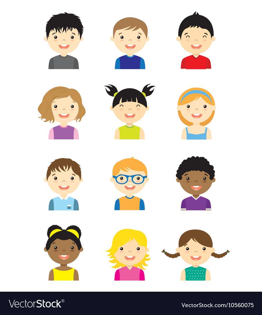 Avatar children set vector