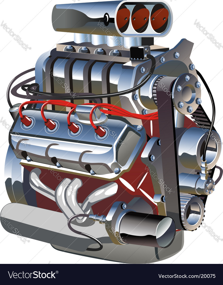 Cartoon turbo engine vector