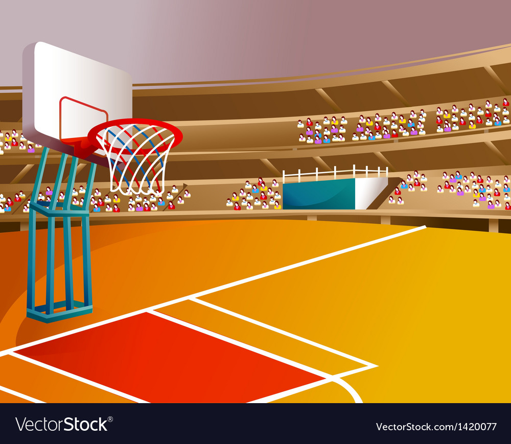 Basketball court stadium vector