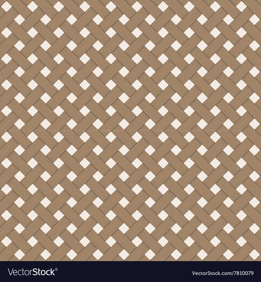 Geometric woven texture  seamless vector
