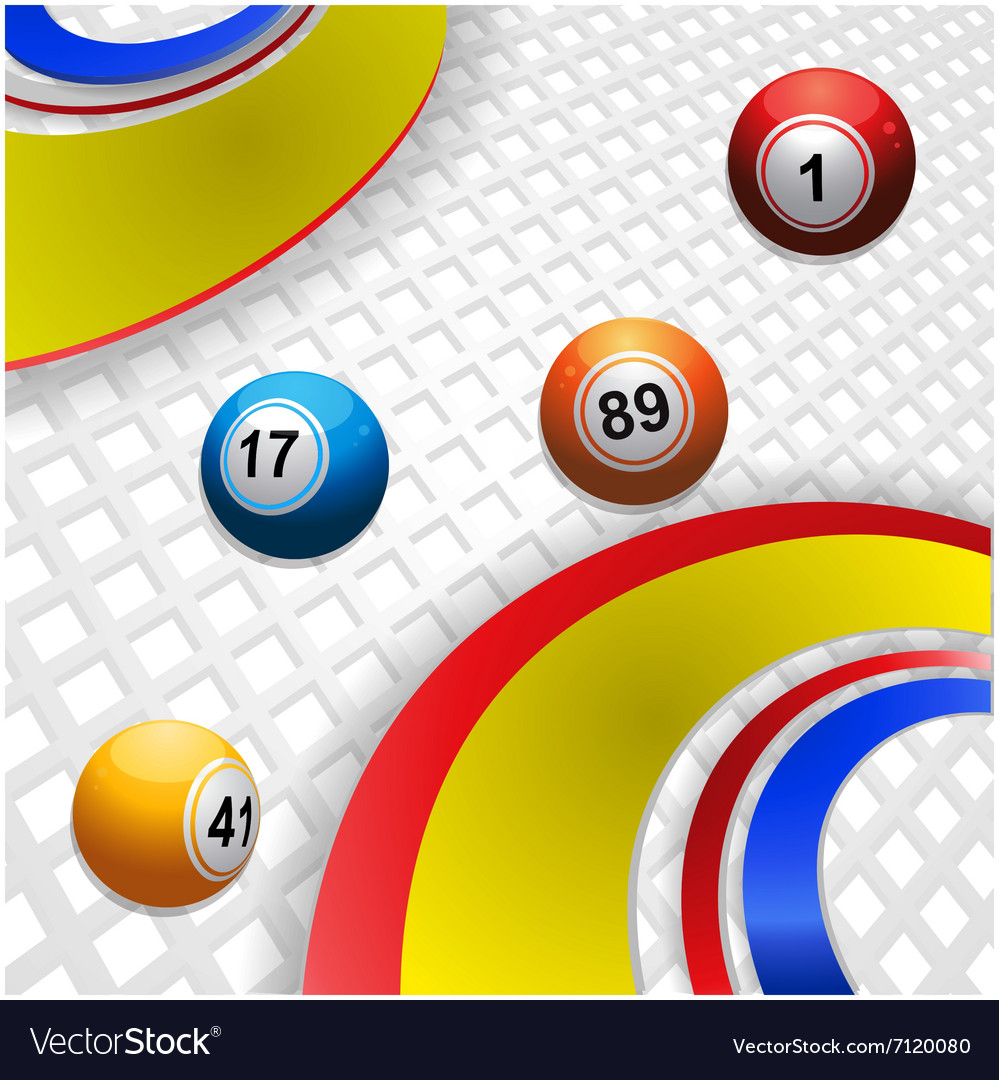 Multi coloured swirl and bingo balls vector