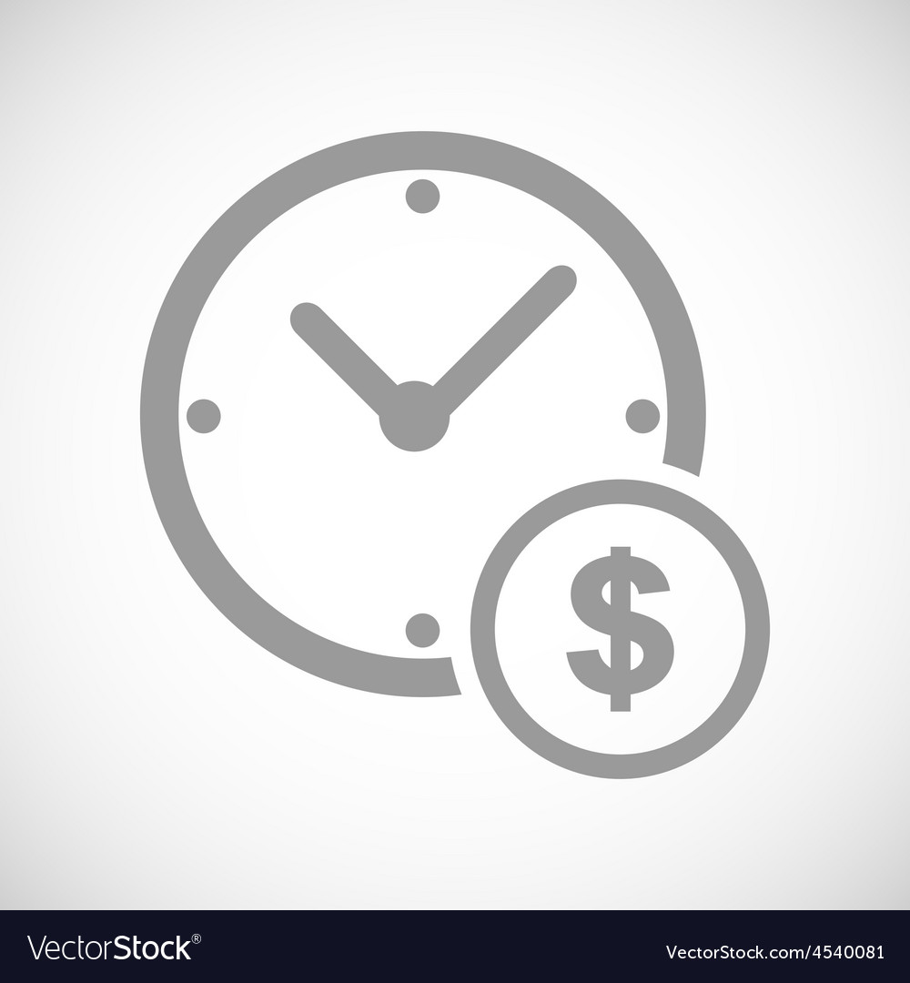 Clock money black icon vector