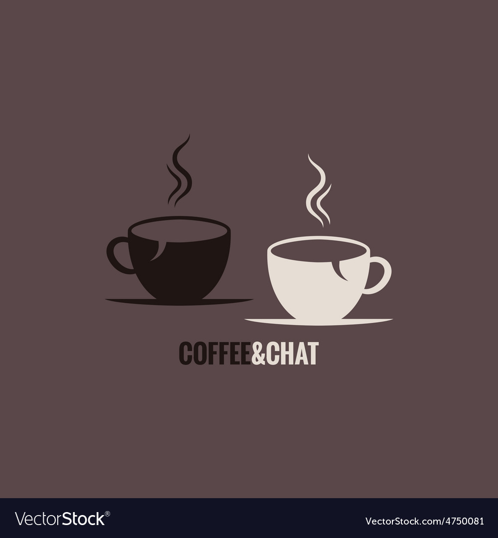 Coffee cup chat concept background vector