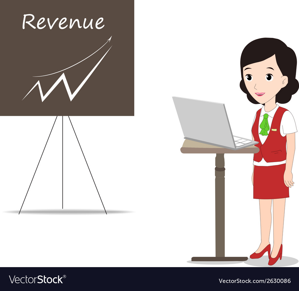 Business presentation woman vector