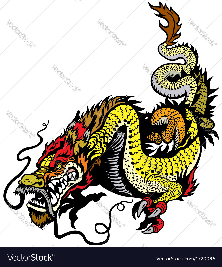 Golden dragon vector