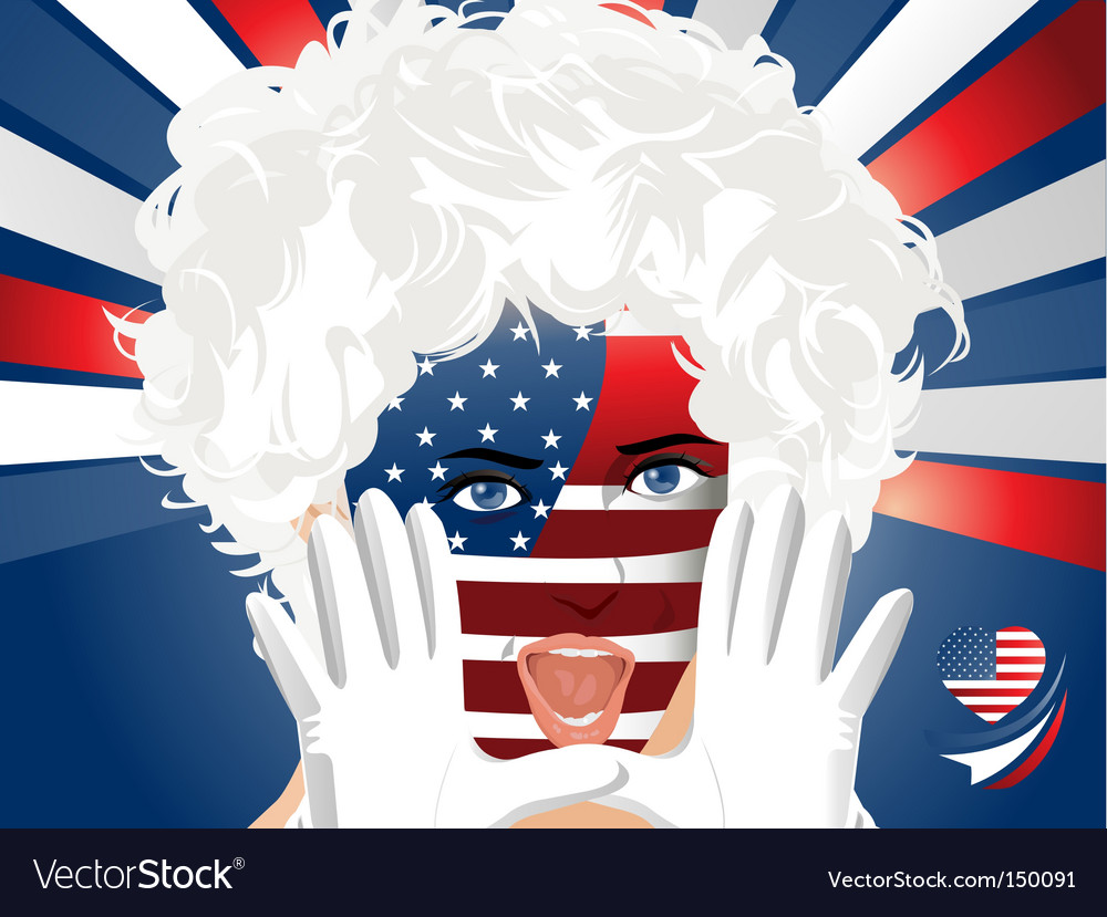 Crowd goes wild usa vector