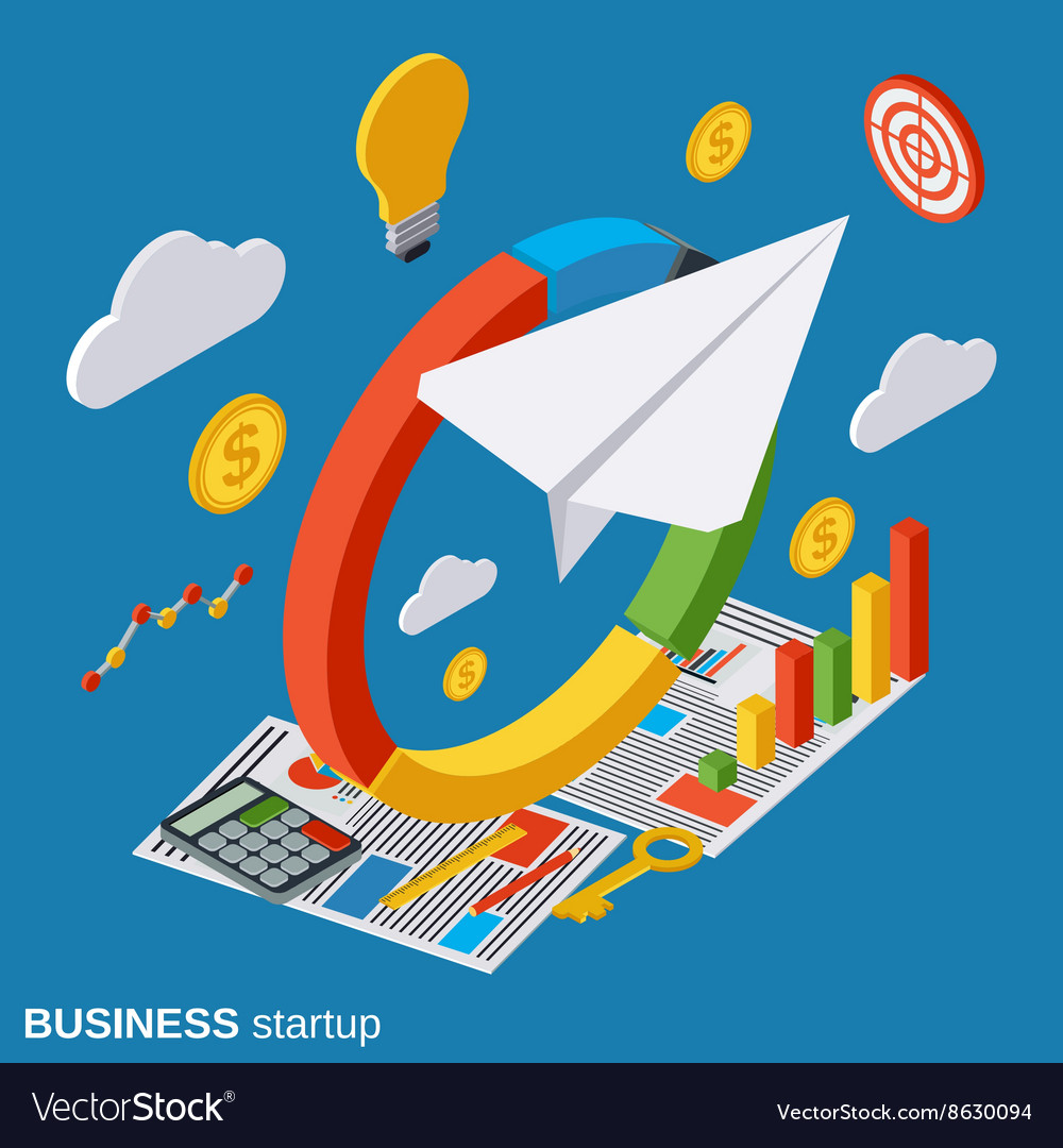 Business startup concept vector