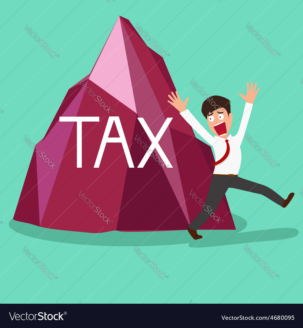 Businessman shocked a big tax vector