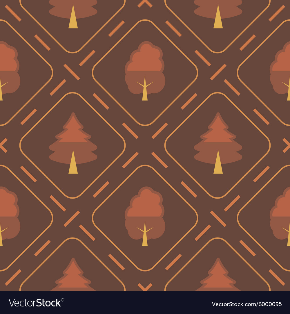 Seamless background with tree vector