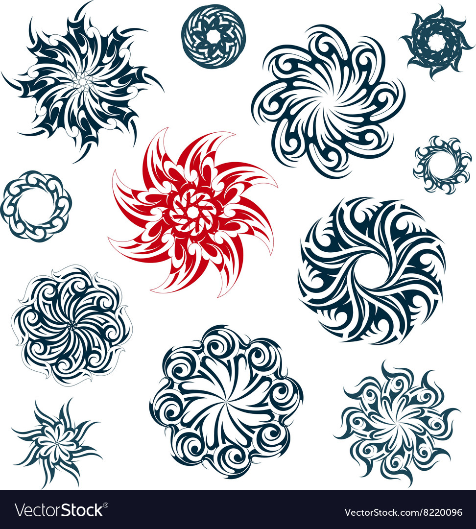 Set of ethnic ornaments vector