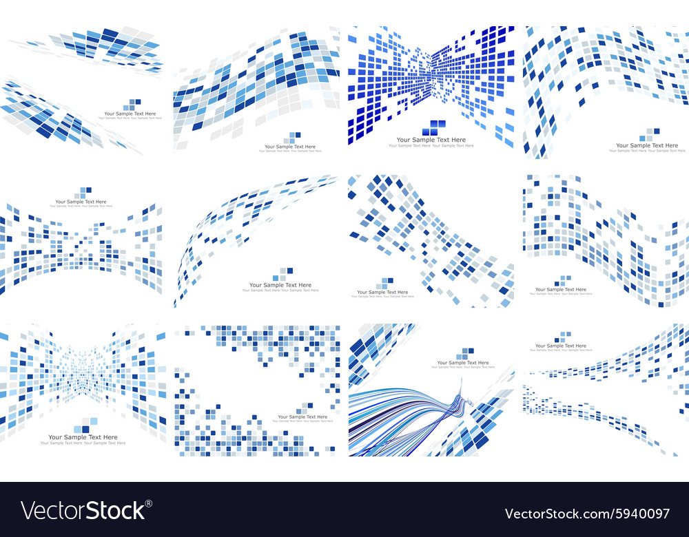 Set of checkered backgrounds vector