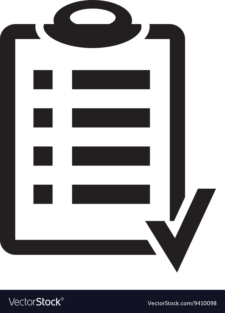 Action plan clipboard icon design over a white vector