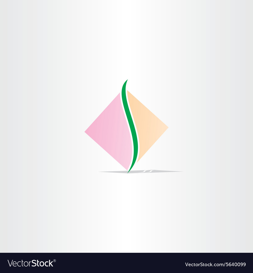 Square spine logo design vector