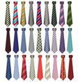 a set of male business ties on a white background vector image vector image