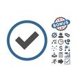Accept Flat Icon With Bonus vector image