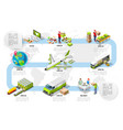 Logistic infographic trade logistics network vector image