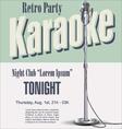 Retro party karaoke background vector image vector image