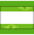 football border background on green vector image vector image