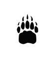 bear footprint vector image