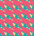Grampus seamless pattern in neon colors vector image