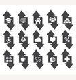 Arrow concept icons vector image