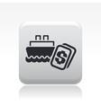 boat price icon vector image vector image