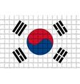 The mosaic flag of Republic of Korea vector image
