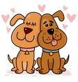 Dogs Couple in Love vector image
