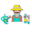 farmer and gardener character vector image