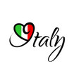 i love italy - graphic vector image