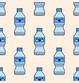 seamless plastic bottles pattern cute kawaii vector image