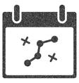 Path Points Calendar Day Grainy Texture Icon vector image
