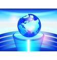 Globe on a pedestal vector image vector image