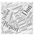 How to analyze a financial statement Word Cloud vector image