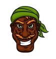 Laughing pirate sailor cartoon man vector image