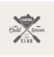 Coldwater Camping Club Emblem Design vector image