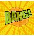 Bang comic cartoon wording vector image