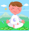 boy in meditation pose vector image