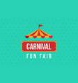 Carnival fun fair theme design vector image