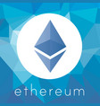 ethereum cripto currency logo vector image