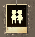nostalgia of couples love vector image