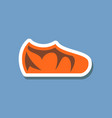 paper sticker fashion footwear sport shoes vector image