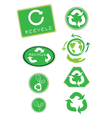Set of Recycle Symbol for Save The World vector image