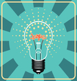 Shining lamp with emotional sign hope inside vector image