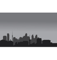 Silhouette of home town with gray color vector image