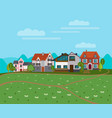 summer rural landscape background vector image