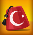 Turkish fez vector image