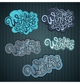 Winter hand lettering vector image