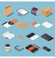 Stationary isometric set 2 vector image