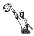 Beach volley plaer vector image